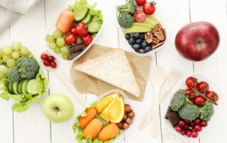healthy food in lunch box